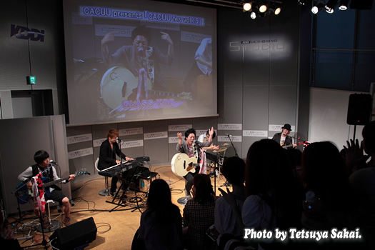GLASS TOPライブ:CACUU presents「CACUU fes vol.15」@KDDIデザイニングスタジオ