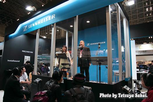 つのだ☆ひろライブ:InterBEE2011ゼンハイザージャパンMK4マイクを使用したデモ