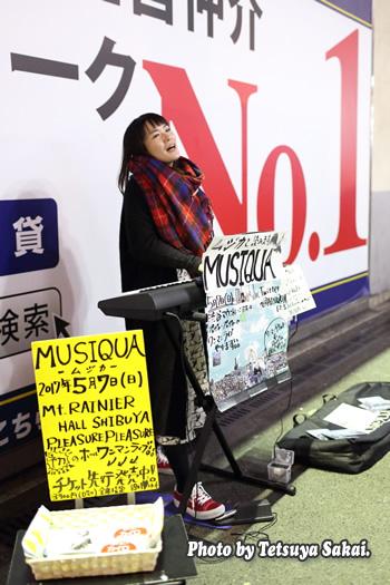 石橋沙弥香(MUSIQUA):ストリートライブ